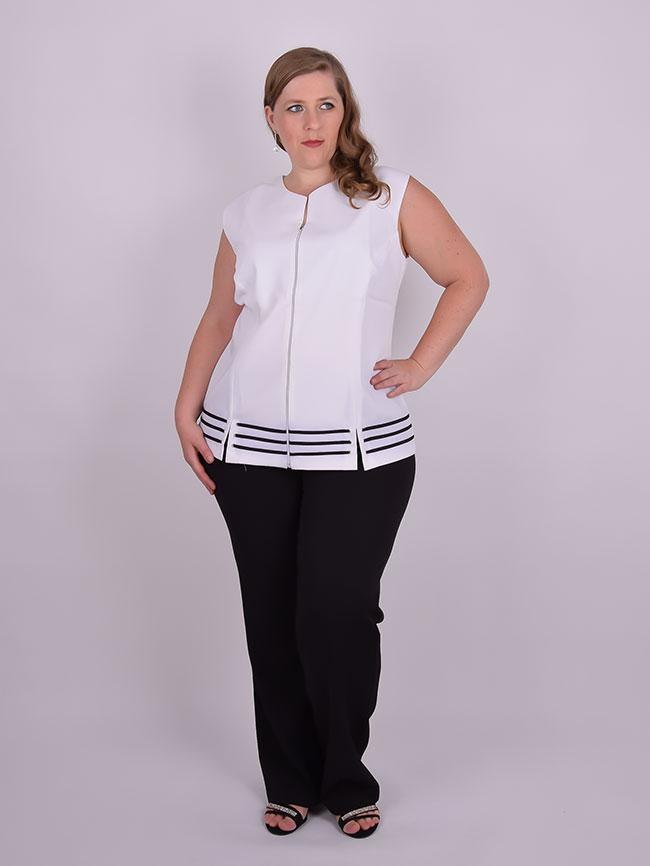 ff8f0e5f2231 Colete Branco Plus Size   Corpo Livre   Grassottelli Moda Grande   Loja  Online