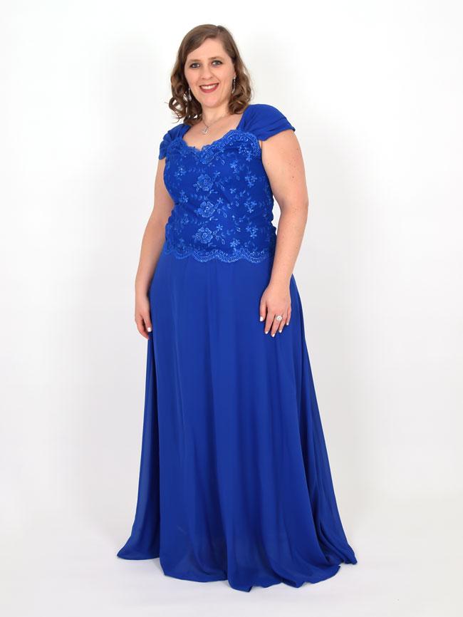 Vestido para festa azul longo