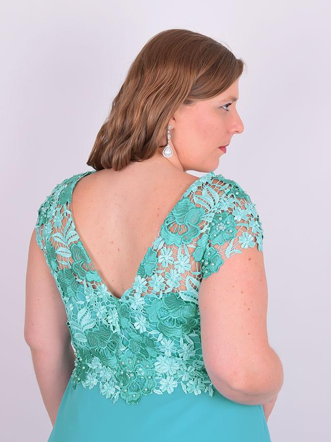 Vestido verde longo plus size