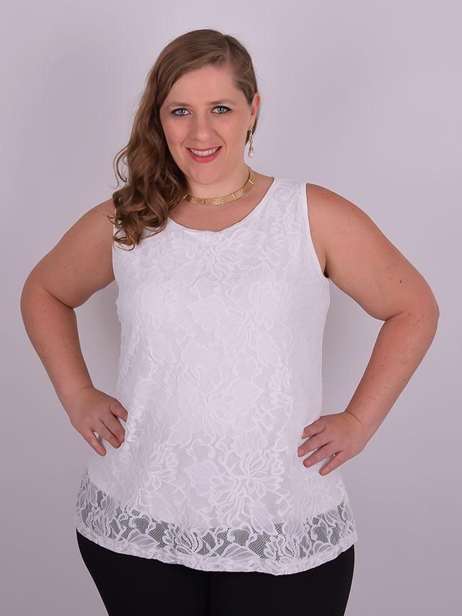 7baf21d4d Blusa Festa Cavada Renda Off White Plus Size