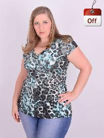 Mini Vest Animal Print Plus Size