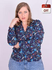 Camisete Manga Longa Viscose Estampado Plus Size