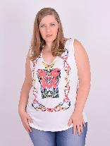 Blusa Regata Viscolycra Off White Plus Size