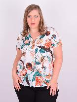 Camisão Manga Curta Viscose Estampada Plus Size